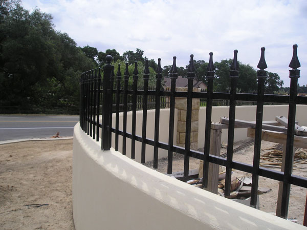 Commercial Wrought Iron Fence San Diego